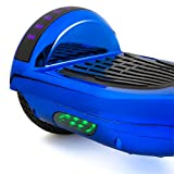 Self Balancing Scooter Hoverboard UL2272 Certified Smart Electric Personal Transportation Bluetooth with LED Light (Blue)
