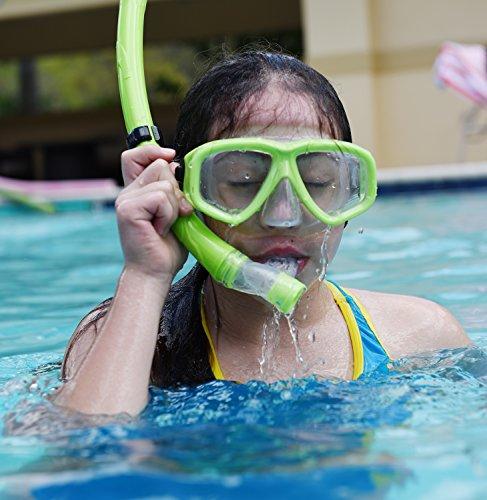 Snorkel Mask Set Kids Snorkeling Gear Double Lens Diving Import It All