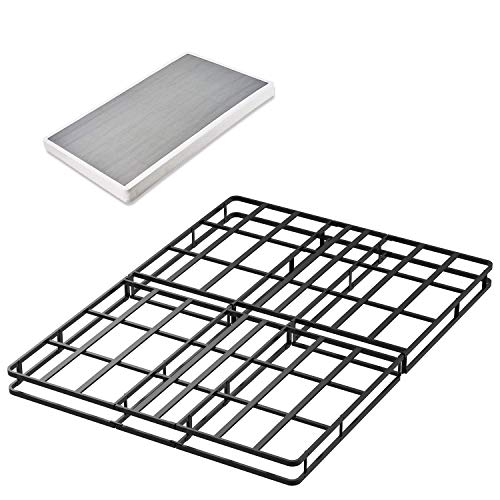 45MinST 4 Inch Low Profile 15 Minutes Easy Assembly Smart Box Spring with Bed Cover/Mattress Foundation / 5000 lbs Heavy Duty Strong Steel Structure,Queen/King(Queen) ()