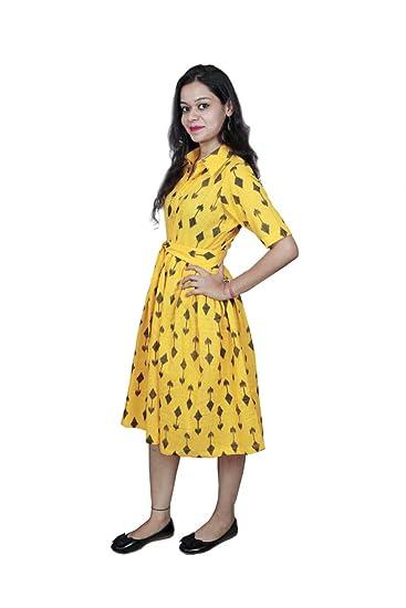 003ba7a1b The Libas Closet knee length Cotton Dress women western dress knee ...