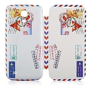 GDW Tampón de motivo de cuero del caso de cuerpo completo para Samsung Galaxy S4 Mini I9190