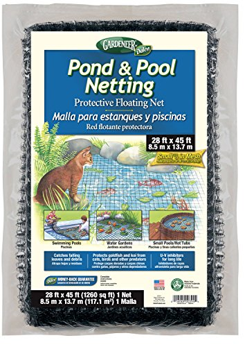 (Dalen PN45 016069003944 Gardeneer by Pond & Pool Protective Floating Net 28' x 4, 28'X45', Brown/A)