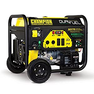 by Champion Power Equipment Champion Power Equipment CARB Compliant Dual Fuel Portable Generator, 9375-watt (100165 CARB Compliant)