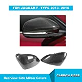 For Jaguar F-type 2013-2016 MCARCAR KIT Add-on Side Mirror Covers Customized Carbon Fiber Rearview Cover Caps