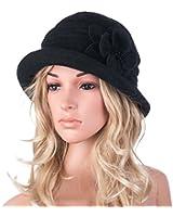 Womens GATSBY 1920s Winter Wool Cap Beret Beanie Cloche Bucket Hat A299