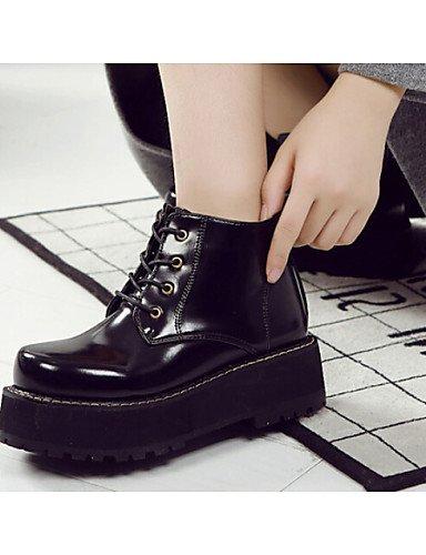 Khaki Xzz 5 Cn35 Botas Eu36 Negro Semicuero Comfort Exterior us5 Cn39 Black Plataforma Uk3 Uk6 5 Caqui Zapatos Mujer De Eu39 us8 1xqwTZr1F
