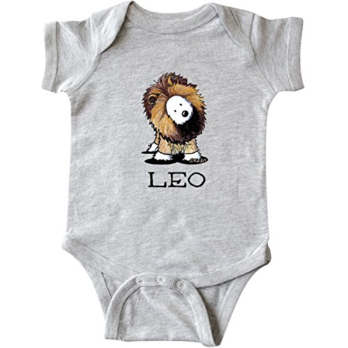 (inktastic - Leo Lion Westie Infant Creeper 6 Months Heather Grey - KiniArt 5e53)