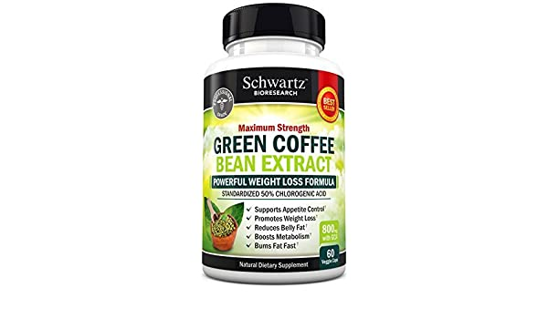 Amazon Com Green Coffee Bean Extract 800mg With Gca Extra Strength Weight Loss Pills With 50 Chlorogenic Acid Green Coffee Bean To Lose Weight No Side Effects Made In