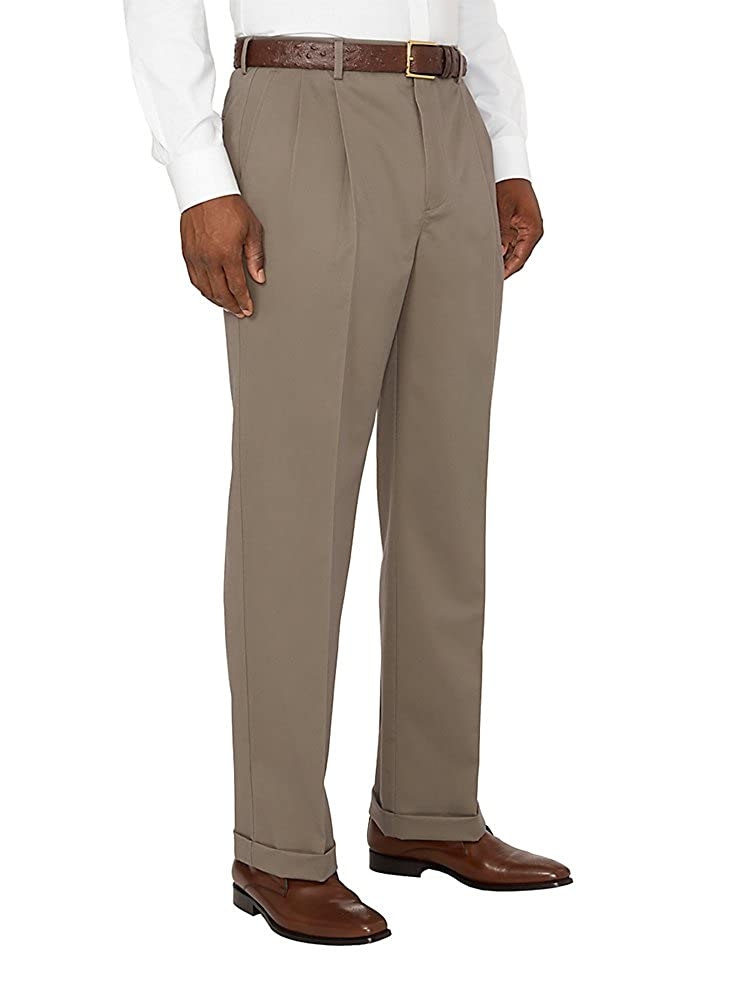 Paul Fredrick Mens Non-Iron Impeccable Pleated Pant