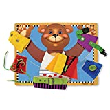 Melissa & Doug Basic Skills Board, Developmental Toys, 6 Removable Pieces & Puzzle Board, Practice Fine Motor Skills, 38.1 cm H x 29.21 cm L x 1.27 cm W