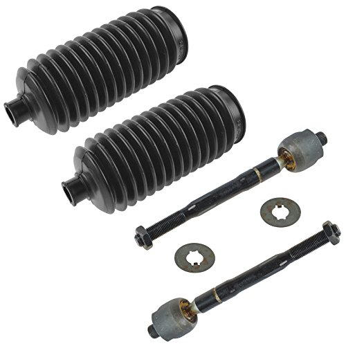 Front Inner Tie Rods & Steering Rack Bellows Boots Kit Set of 4 for Acura MDX