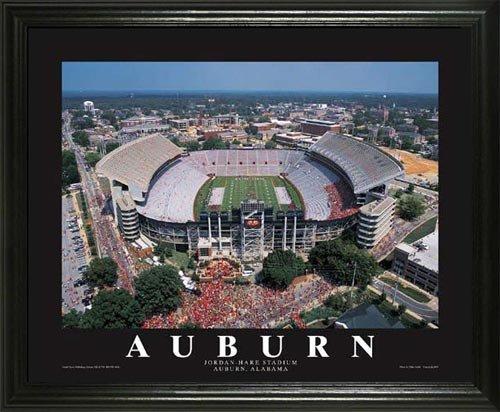 Hare Framed Print (Auburn Tigers - Jordan-Hare Stadium Aerial - Lg - Framed Poster Print)