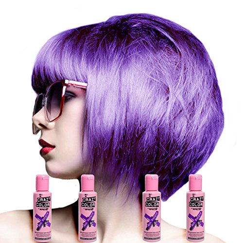 Renbow - Tinta per capelli semi-permanente Crazy Colour, Fucsia No.62 (100ml) Scatola da 4 Crazy Color