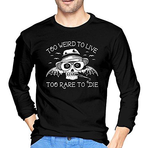 RORO Men's Hunter S Thompson Loathing In Las Vegas Long Sleeve T-shirt Black XX-Large
