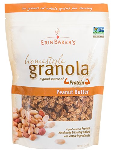 (Erin Baker's Homestyle Granola, Peanut Butter, Gluten-Free, Ancient Grains, Vegan, Non-GMO, Cereal, 12-ounce bags (Pack of 6))
