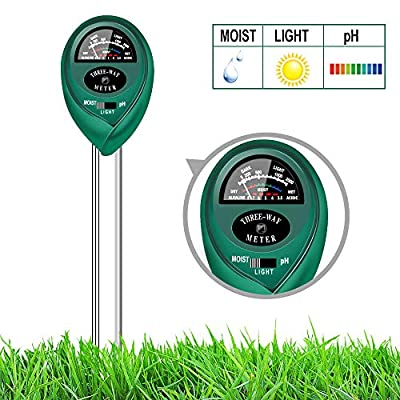 yoyomax Soil Test Kit pH Moisture Meter Plant Water Light Tester Testing Kits Garden Plants