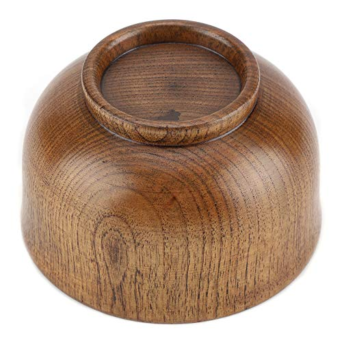 Wooden Bowl, Child Kid Wooden Handmade Bowl Food Container Heat-Resistant Tableware Soup Bowl Fruit Bowl by GLOGLOW (Image #8)