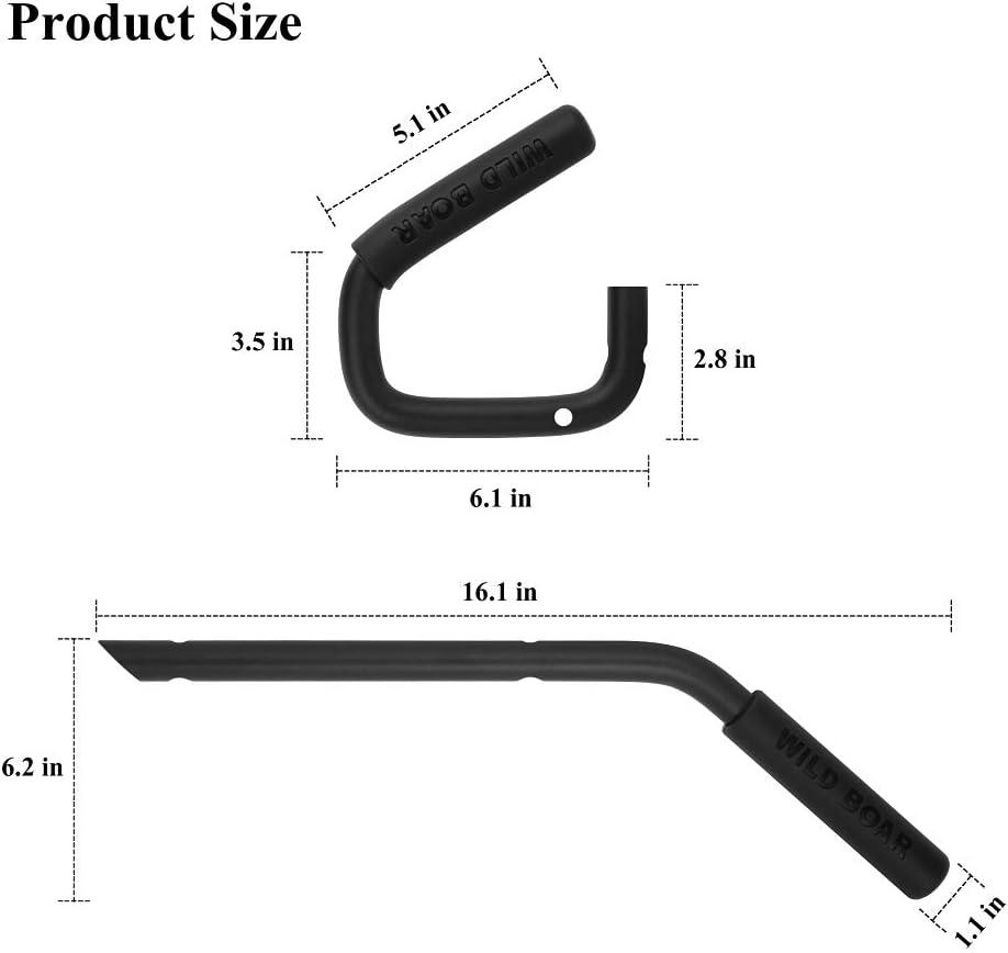 4 Door 2007-2016 Grab Bar Anteriore e posteriore Hard Mount Accessori per maniglie di cinghiale in acciaio massiccio