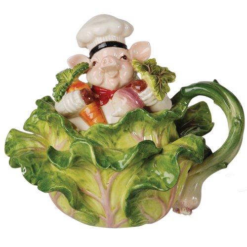 Bistro Couchon Chef Pig Teapot