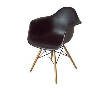 Plastic Der Daw Armchair Stuhl Eames Aus Kollektion Vitra Schwarz Y6vyIfm7gb