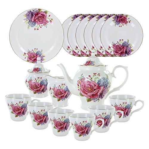Rose Blessing Deluxe Porcelain Tea Set