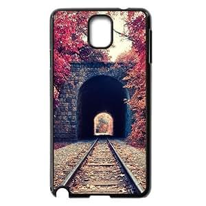 Train Tunnel Autumn Samsung Galaxy Note 3 Cases, Cathyathome {Black}