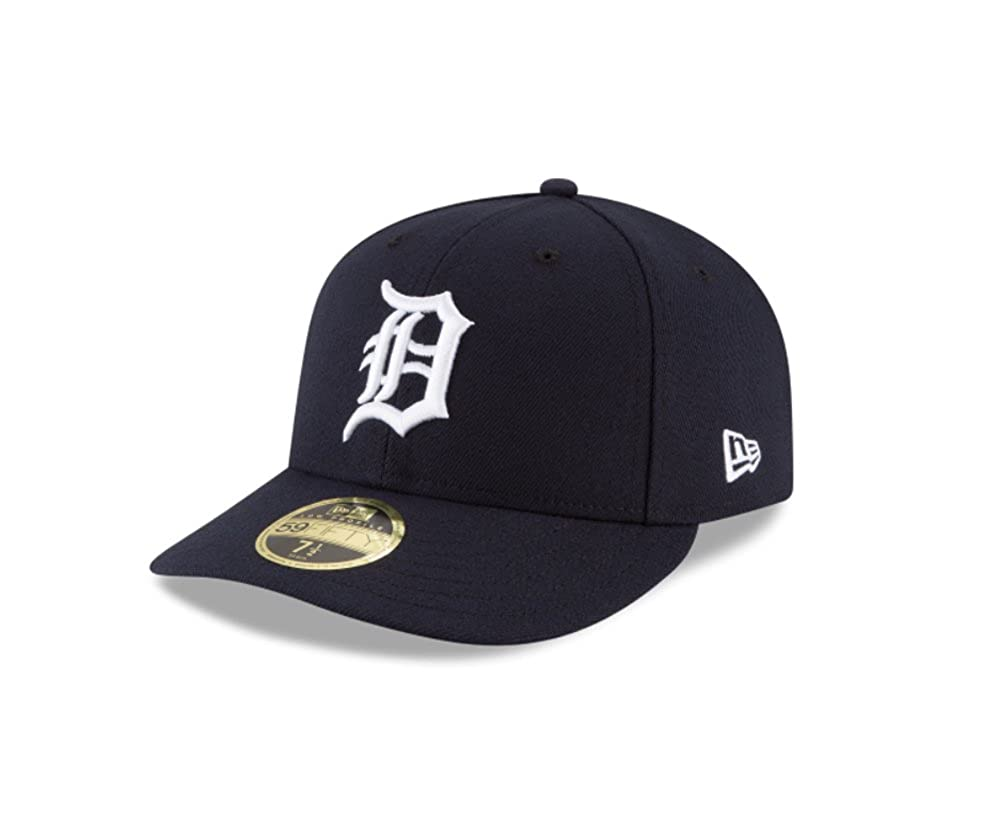 17d33cd2 Amazon.com: New Era 59Fifty Hat MLB Detroit Tigers Low Profile Crown Home Baseball  Fitted Cap: Clothing
