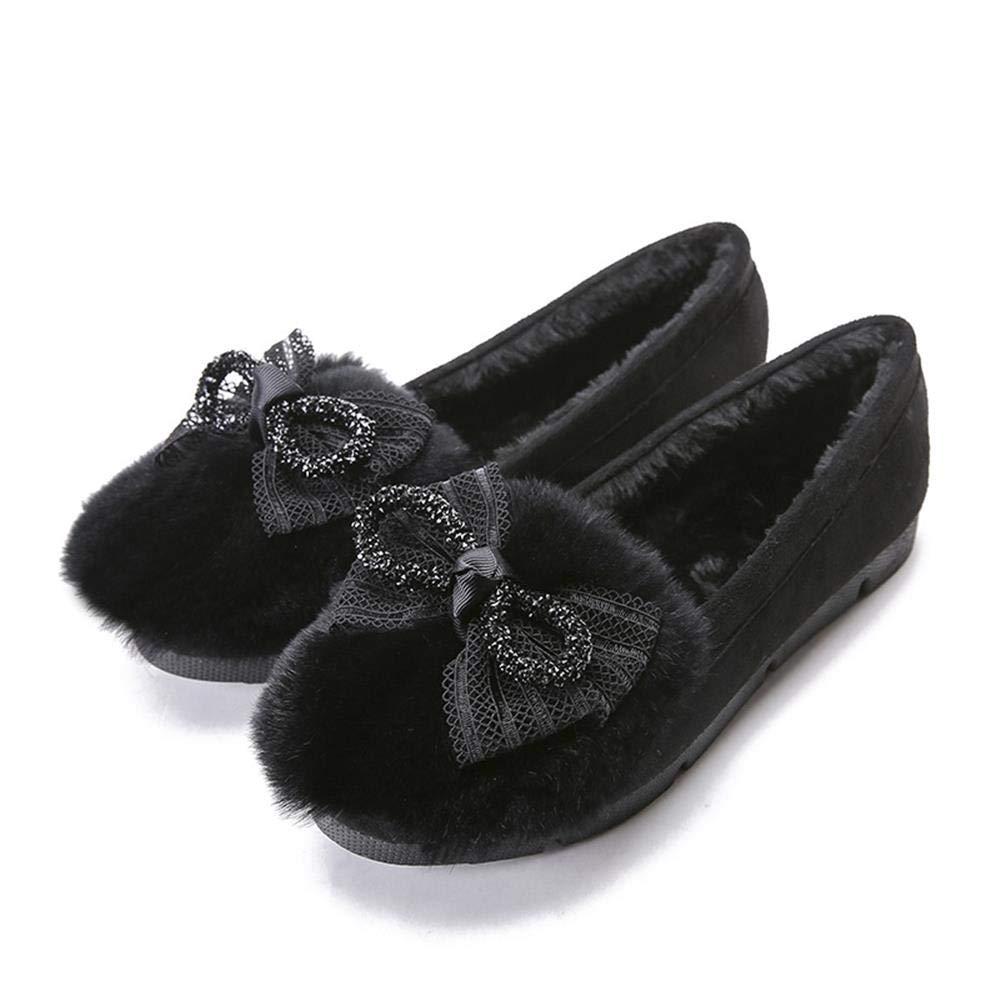 Winter Warm Und Samt Flache Schuhe Frauen Schuhe Rutschfeste Mutterschaft Baumwolle Schuhe Größe