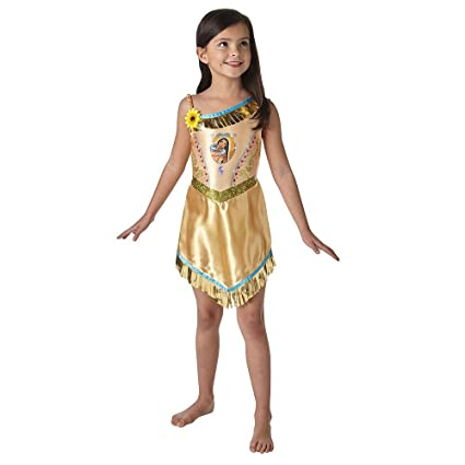 06d130b4b5feb Girls Official Disney Princess Pocahontas Native Indian Wild West Book Day  Week Halloween Party Fancy Dress Costume Outfit 3-8 years (3-4 years)