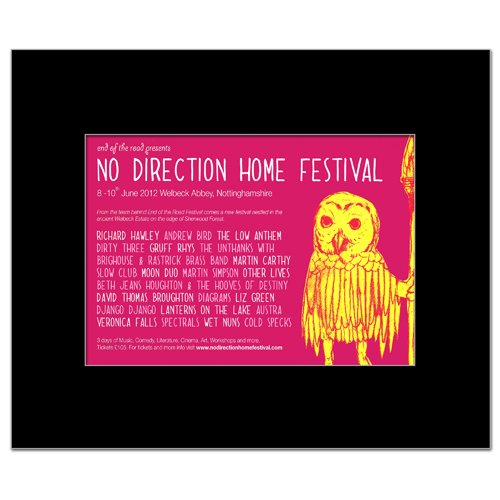 NO Leadership HOME FESTIVAL - 2012 - Andrew Bird Low Richard Hawley Mini Poster - 22.5x14cm