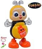FUNTIVO Happy Bee Dancing Swing with Lights and Music, Battery Operated babies/kids Action Toy, Size: 8.5''