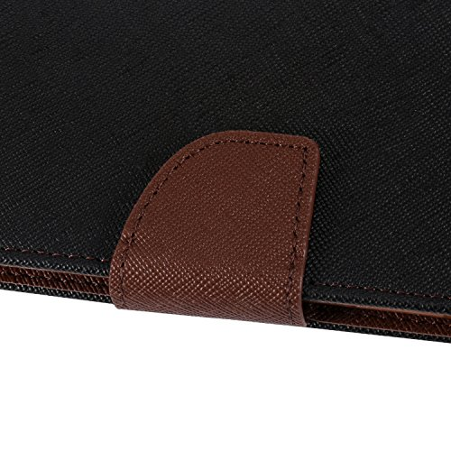 "iPhone X Hülle , ivencase Deluxe Magnet PU Leder Handytasche Karten-Slot Stand Flip Silikon Schutzhülle Case Cover für Apple iPhone X 5.8"" Schwarz"