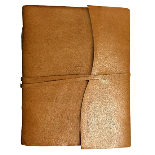 Genuine Leather Brown Photo Album / Scrap Book with Handmade Acid Free Card Stock Paper (Brown) - Leather Photo Journal