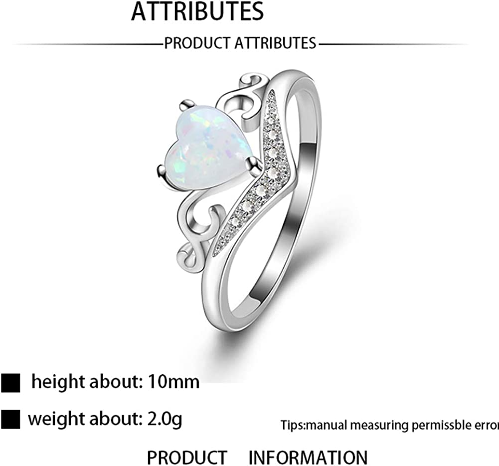 YAZILIND Statement Wedding Ring Rose Gold Plated Round Opal Cubic Zirconia Engagement Jewelry Gift