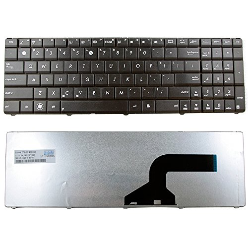 CBK Replacement Keyboard For Asus G72 G72X G73SW G73S G73J G73JH G73JW K52 K52J K52JK K52JR K52F N53 N53JF N53JQ N53SV N53SN N53NB 9J.N2J82.61D by Best Compu