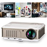 Video Projector- 2600 Lumens LED HDMI 1080P Multimedia- for Home Theater Cinema Movie Video Games Party iPhone iPad Laptop Smartphone TV Blu-ray DVD  Google Player