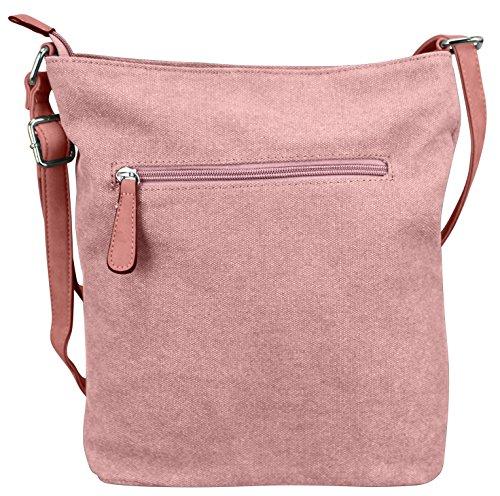 Damen Canvas STERN Sticker Handtasche Sterne Canvas TOP TREND Tragetasche M4 Rosa PsSvk0aD