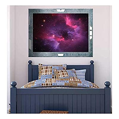 Science Fiction ViewPort Decal Colorful Misty Whirlwind in Space Wall Mural, Created By a Professional Artist, Pretty Picture