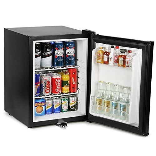 bar@drinkstuff Frostbite Zero Degrees Mini Bar 35ltr - Counter Top Mini Fridge with Lockable Door, Suitable for Milk [Energy Class B]