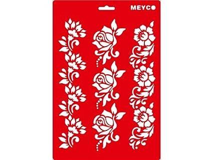 Transparente de flores pasamanería 20 x 31 cm