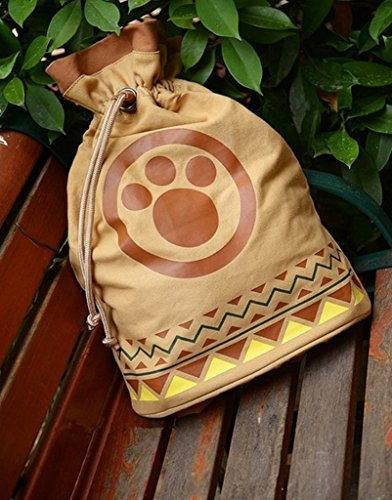[Smoon Cosplay Monster Hunter Airu Canvas Backpack Shoulder Bag Anime Products] (Monster Hunter Cosplay Costume)
