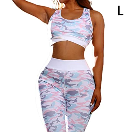 Amazon.com: ZABBC Cloth ingPatchwork Ropa de Yoga Corta para ...