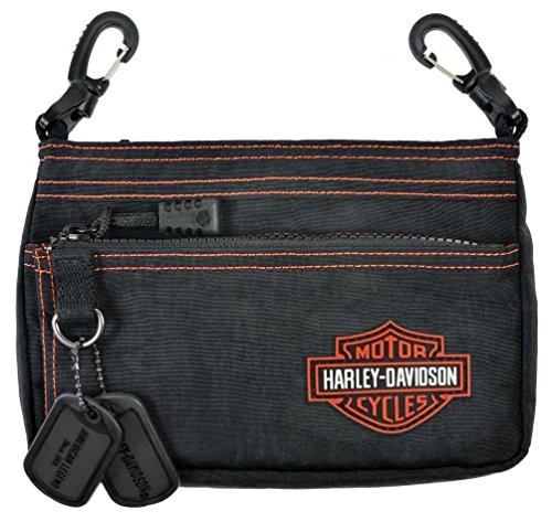 - Harley-Davidson Women's Rally Hip Bag Purse Black & Orange RL7251S-OrgBlk