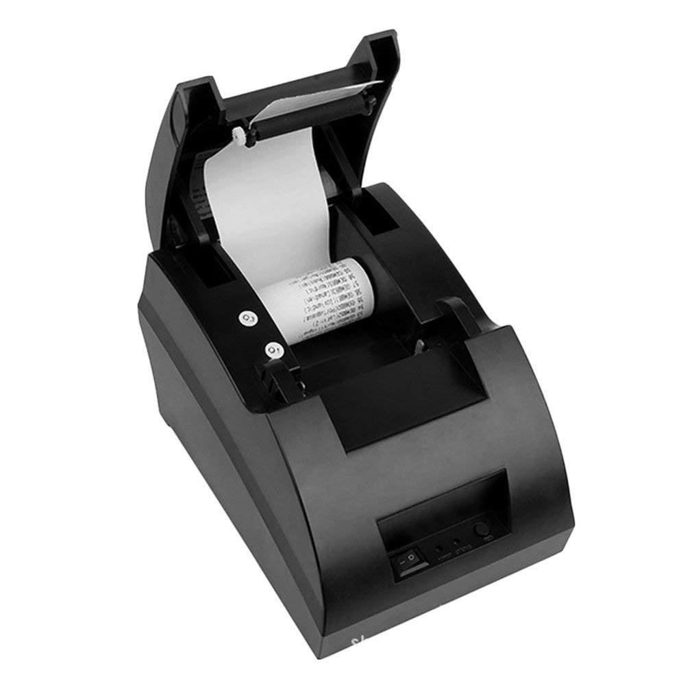 Homgrace USB Thermal Receipt Printer 58mm Portable Label Printer Set Roll Paper POS-5890C (Black)
