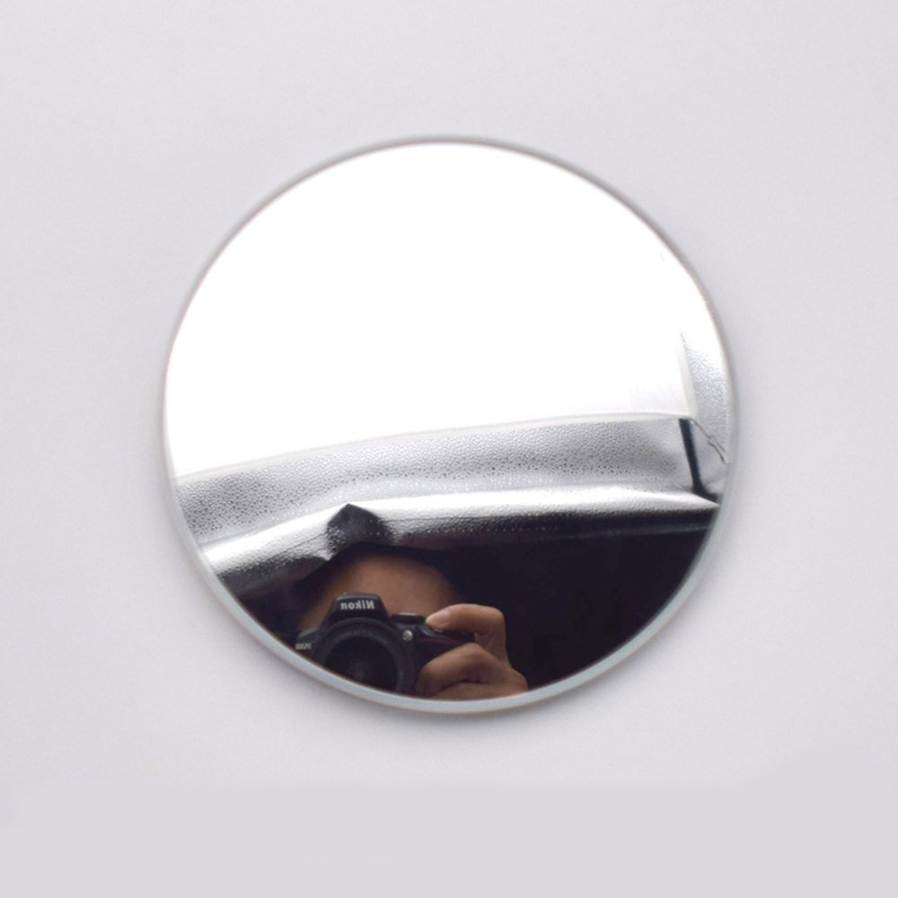 MotorFansClub Blind Spot Mirror, 2'' Round HD Glass Frameless Convex Rear View Mirror, Pack of 2 by MotorFansClub (Image #4)