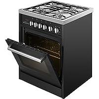 Kaff Cooking Ranges, Black, Four Gas Burners, 59 litres Oven - KSB 60