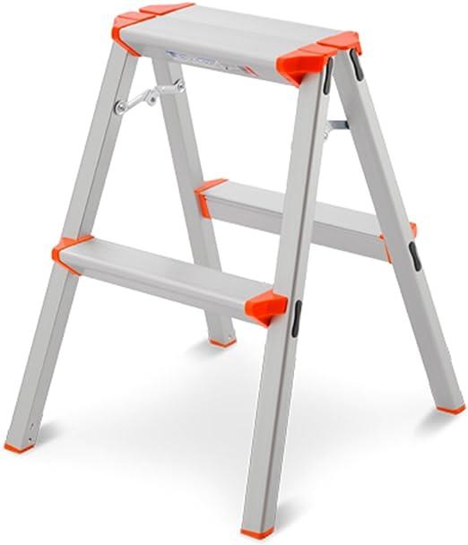 Escaleras multifunción Escalera De Dos Pasos Escalera Plegable De Mano Escalera De Ingeniería De Aluminio (Color : Orange, Size : 40 * 79 * 97cm): Amazon.es: Hogar