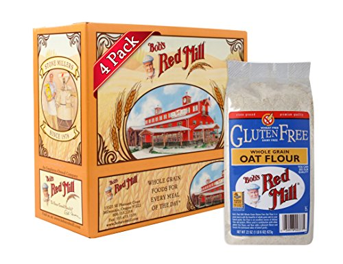 Bob's Red Mill Gluten Free Oat Flour, 22-ounce (Pack of 4)