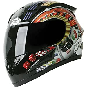 Torc Player with Blinc Bluetooth Adult Prodigy T-10B Sports Bike Motorcycle Helmet - Black / Medium