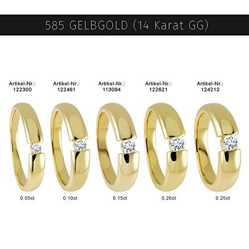 Diamond Line Femme  14carats (585/1000)  Or blanc|#Gold Balle   Doré Diamant FINERING
